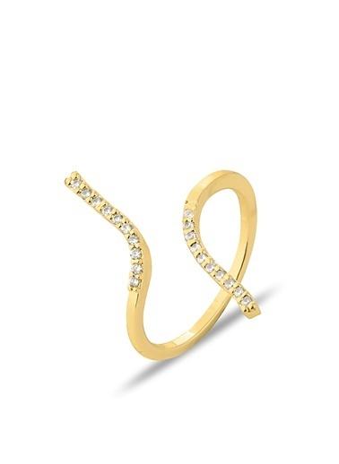 Luis Polo K-YZK 2109 Taşlı Kadın Yüzüğü Altın